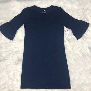 Velvet Navy Annabelle Ruffle Sleeve Tee Dress Sz S